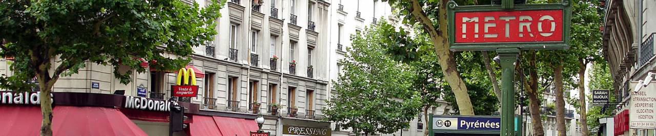 Location vos bureaux rue des Pyrénées, l'une de plus belles avenues de Paris